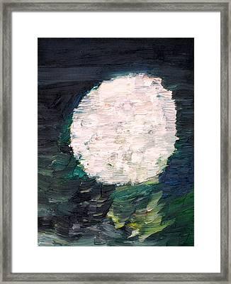 White Sphere Framed Print by Fabrizio Cassetta