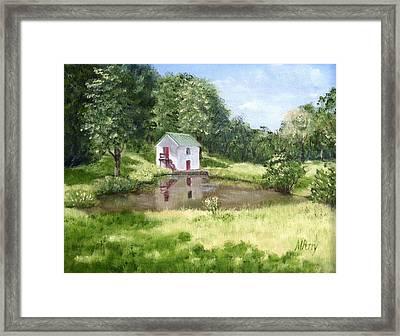 White Springhouse Framed Print