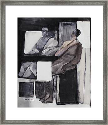 White Square Framed Print by Helen Hayes