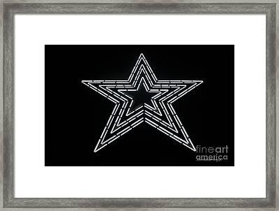 White Star Framed Print