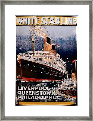 White Star Line Poster 1 Framed Print