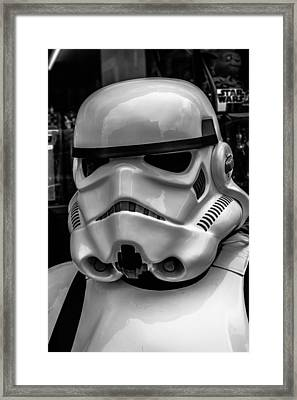 White Stormtrooper Framed Print