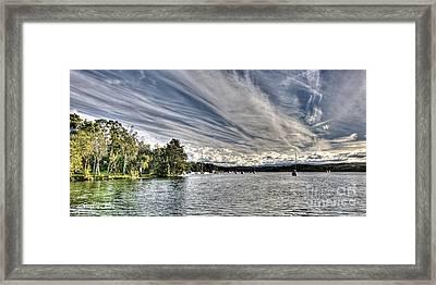 White Streaks.  Sunset Framed Print by Geoff Childs