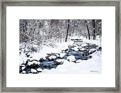White Stream Framed Print by Bill Cantey