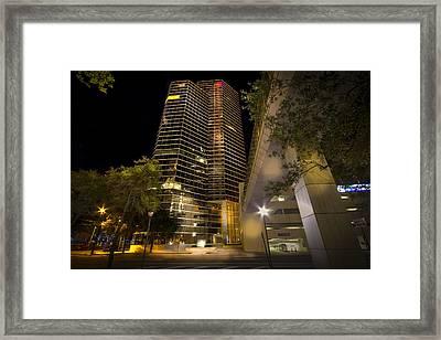 White Stripe Building Framed Print by Marvin Spates
