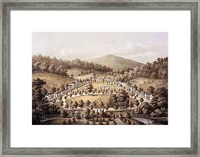 White Sulphur Springs, Montgomery County, Va Framed Print by Edward Beyer