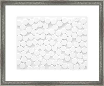 White Tablets Framed Print by Science Photo Library
