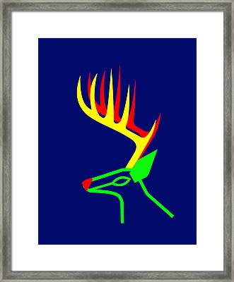 White Taled Deer From British Columbia Framed Print by Asbjorn Lonvig
