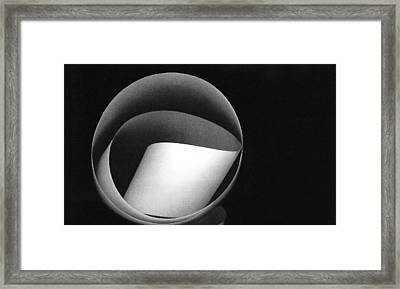 White Tape Framed Print by Bob RL Evans