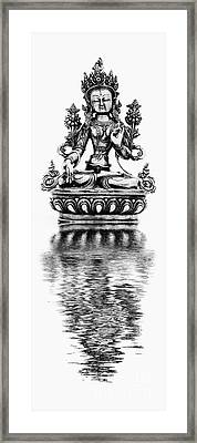 White Tara Deity Framed Print by Tim Gainey