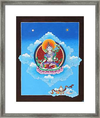 White Tara Framed Print by Sarah Grubb