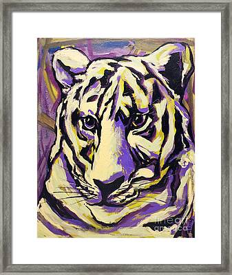 White Tiger Not Framed Print by Becca Lynn Weeks