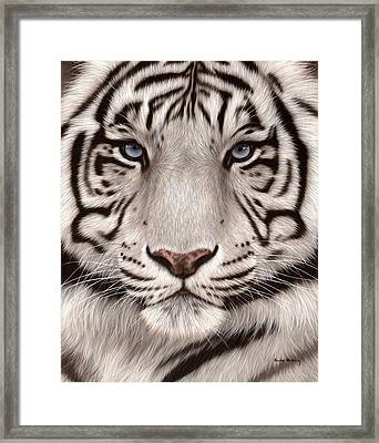 White Tiger Painting Framed Print