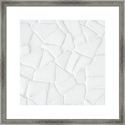 White Tiles Framed Print
