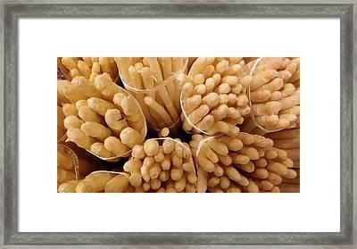 White Tip Asparagus Framed Print