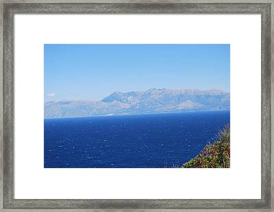 Framed Print featuring the photograph White Trail by George Katechis
