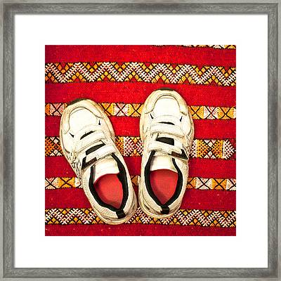 White Trainers Framed Print