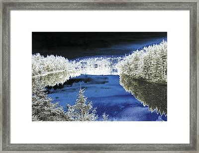 White Trees And River Framed Print by Jason Lees