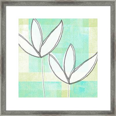 White Tulips Framed Print by Linda Woods