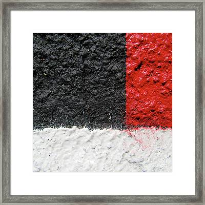 Framed Print featuring the photograph White Versus Black Over Red by CML Brown