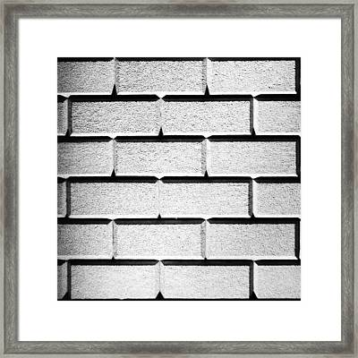 White Wall Framed Print
