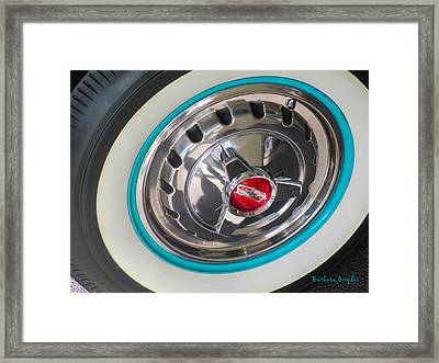 White Wall Tire And Spinners Framed Print by Barbara Snyder