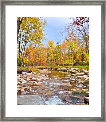White Water Autumn Framed Print