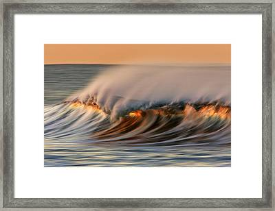 White Water Glow  Mg_0328 Framed Print