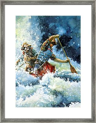 White Water Framed Print by Hanne Lore Koehler