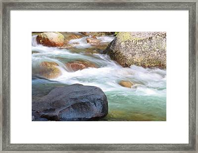 White Water Framed Print by Heidi Smith