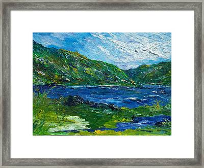 White Water In Kenmare  Kerry Framed Print