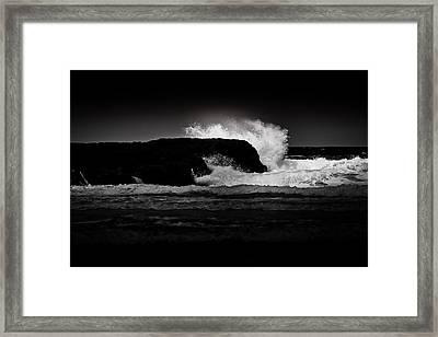 White Wave Framed Print