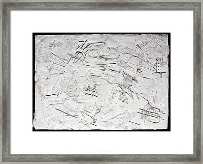 White Web Collage 7 Framed Print by Hari Thomas