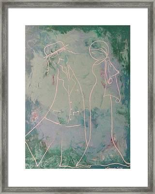 White Wedding Framed Print by Hanna Fluk