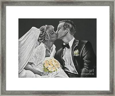 White Wedding Framed Print