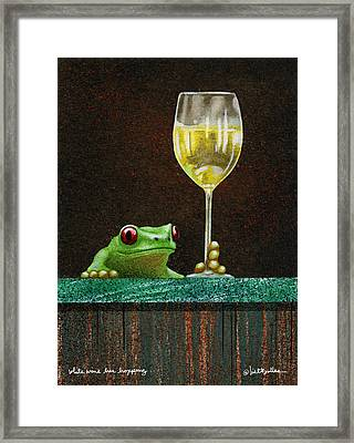 White Wine Bar Hopping... Framed Print