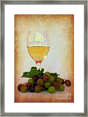 White Wine Framed Print by Clare Bevan