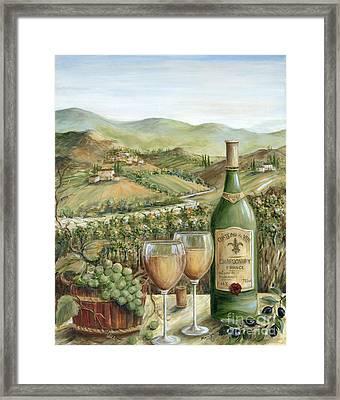 White Wine Lovers Framed Print by Marilyn Dunlap