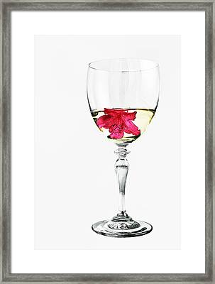 White Wine Framed Print by Marcia Colelli