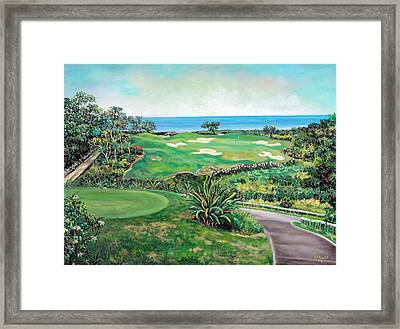 White Witch Golf Course #1 Hole #17 Framed Print