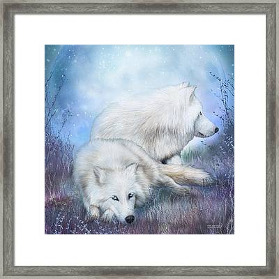 White Wolf Mates Framed Print