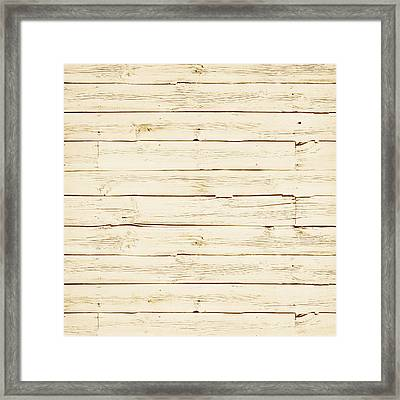 White Wood Framed Print by P S