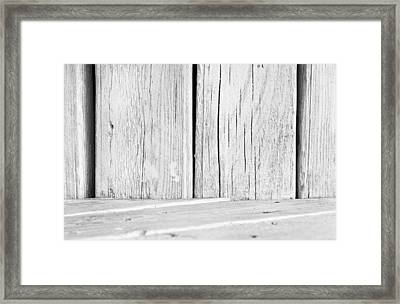 White Wood Framed Print by Tom Gowanlock