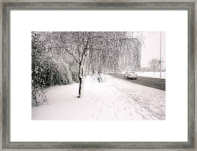 White World Framed Print