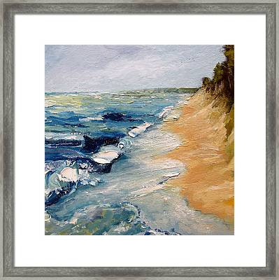 Whitecaps On Lake Michigan 3.0 Framed Print by Michelle Calkins
