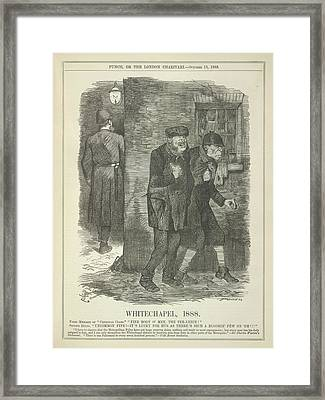 Whitechapel 1888 Framed Print by British Library