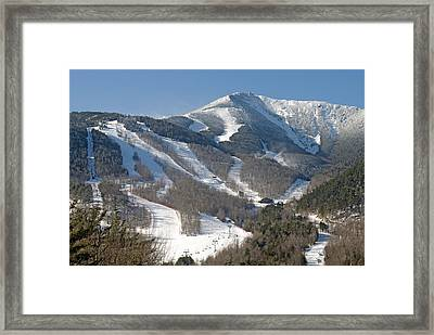 Whiteface Ski Mountain In Upstate New York Near Lake Placid Framed Print by Brendan Reals