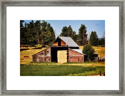 Whitefish Barn Framed Print