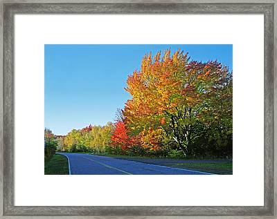 Whitefish Bay Scenic Byway Framed Print by James Rasmusson