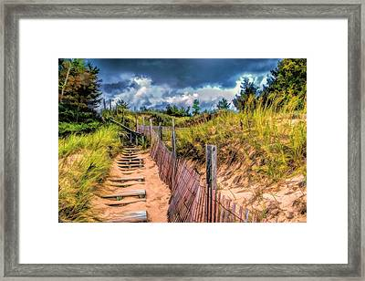 Whitefish Dunes State Park Stairs Framed Print